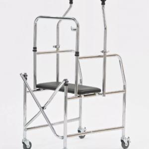Ходунки разборно-складные с 4-мя колесами и подмышечными упорами (от 13 руб/сут)