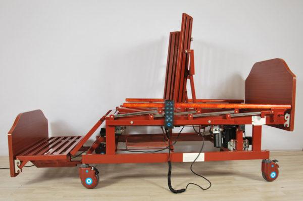 Кровать-кардиокресло с туалетом,электроприводом на колёсах DB-11A (ММ-121H)