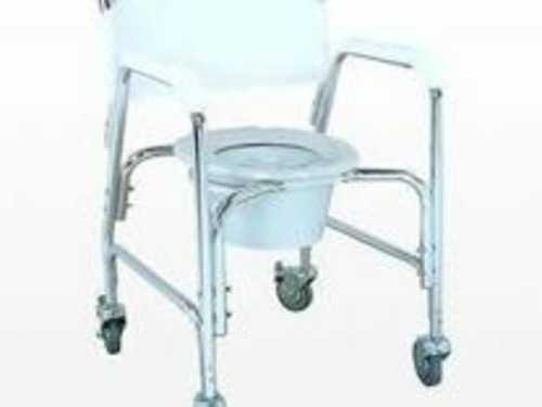Стул-туалет с сан.оснащением с колесами, до 110кг, раб.ширина 60см, сиденье 35,5см, RPM68092